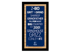"""Memphis Grizzlies 9.5"""" x 19"""" Sign"""
