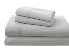 700TC Damask Stripe Sheet Set-Silver-3 Sizes