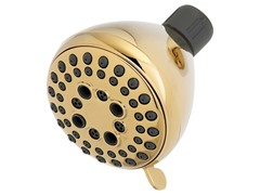 5-Setting Shower Head, Brass