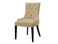 Franklin Tufted Microsuede Dining Chair - Cream