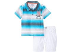 Blue Stripe/White Short Set (4-7)