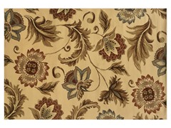 Emery Beige-Gold Floral Rug (Multiple Sizes)