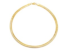 18kt Gold Plated Omega Necklace