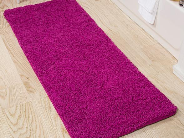 Lavish Home Memory Foam Shag Bath Mat 2 Feet By 5 Feet