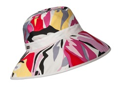 Miami Beach Fabric Bucket Hat, Magenta