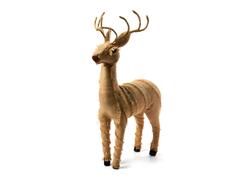 """Burlap Deer 21""""H"""