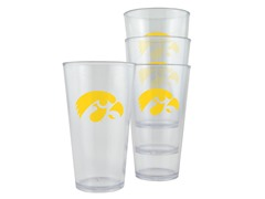 Iowa Plastic Pint Glasses 4-Pk