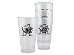 Maryland Plastic Pint Glasses 4-Pk