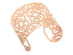 18 kt Rose Gold Plated Cut-Out Bangle