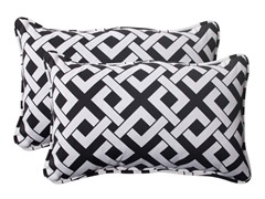 In/Outdoor Pillows-Boxin-Black-S/2