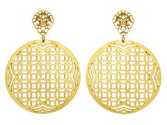 18kt Gold Plated Consecutive Earrings