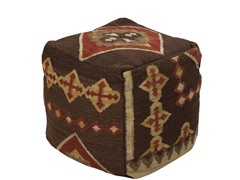 Artistic Weavers Pouf Burnt Sienna