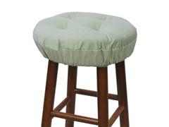 "Gripper® 14"" Barstool Covers-Pinwale-Celedon S/2"