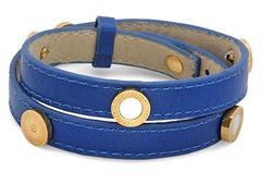 Leather Wrap Bracelet w/ MOP Accent