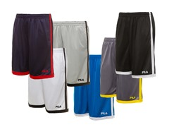 Fila Men's Athletic Shorts, 10 Colors
