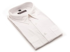 Oleg Cassini Men's Dress Shirt, White