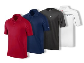 Polos from Fila and Nike Starting at $4.99