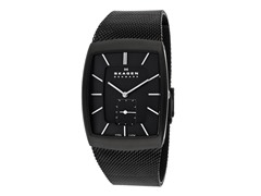 Men's Steel Matte Textured Mesh Accents Watch