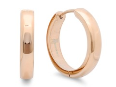 18 kt rose gold plated 16mm Huggies