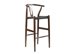 Wishbone Stool - Dark Brown