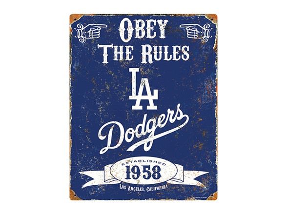 L A  Dodgers Vintage Metal Sign