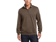 Arrow Men's Partial-Zip Sueded Pullover, Brown