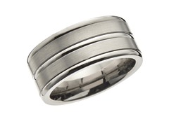 10mm Center Line Titanium Band