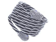 Black Stainless Steel Twisted Rope Bracelet