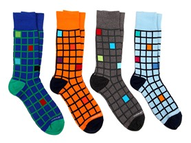 Unsimply Stitched Patterned Socks 4-Pack