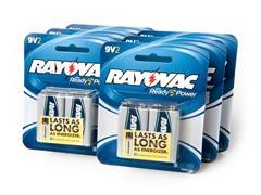 9V Alkaline Batteries - 12 Pack