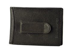 Leather Flip Clip Wallet, Brown