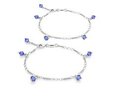 Blue Sapphire Bracelet & Anklet Set