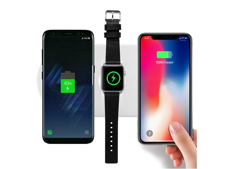 3-in-1 Fast Charge Wireless Charging Pad