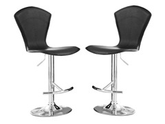 Homelegance Black Vinyl Stool 2pk