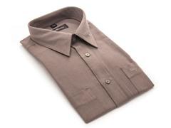 Oleg Cassini Men's Dress Shirt, Brown XXXL