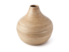 Core Bamboo Round Vase - Natural