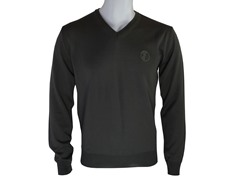 Versace V Neck Sweater, Green