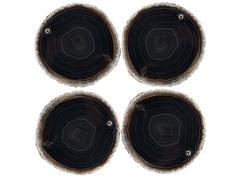 Brazilian Agate 4pk - Black