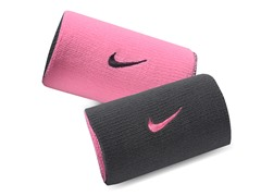Premier Doublewide Wristbands - Grey/Pink