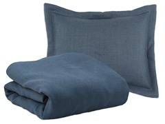 Burlap Navy Corded Duvet Set - 4 Sizes