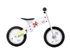 Smart Gear White Graffiti Balance Bike