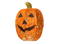 "Lighted Pumpkin Yard Décor 15""H"