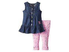 Chambray/Pink Legging Set (4-6X)