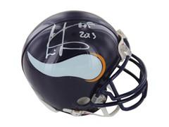 Cris Carter Vikings Signed Mini Helmets