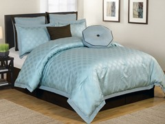 Winston 8Pc Comforter Set-Blue-2 Sizes