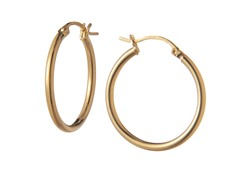 18kt Gold Plated Silver Earrings, 25mm