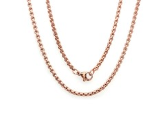 18kt Rose Gold Plated Box Necklace
