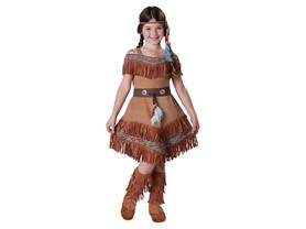 InCharacter Costumes Girl's Indian Maiden Costume, Tan, 10