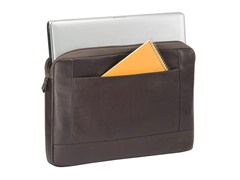 "Solo 15.6"" Colombian Leather Laptop Sleeve"