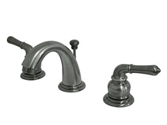 Mini Widespread Faucet, Vintage Nickel